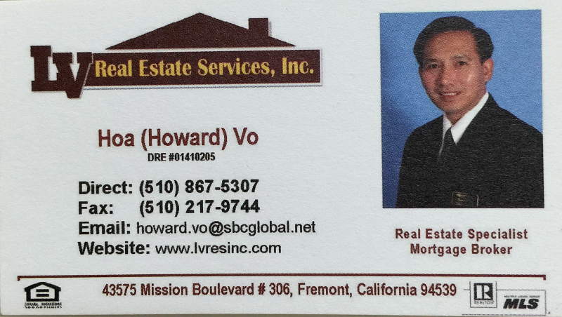 Hoà (Howard) Vo – Real Estate Specialist & Mortgage Broker